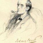 Sherlock Holmes portrait by Sidney Paget, public domain