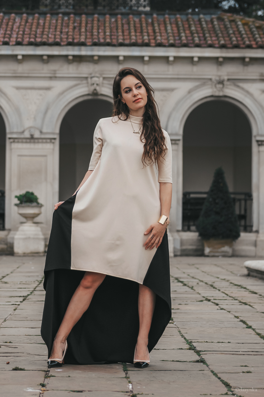 dasynka-fashion-blogger-london-life-street-style-big-ben-pinterest-skirt-black-bag-white-look-long-hair-zara-hm-asos-hermes-satin-heels-dress-beige