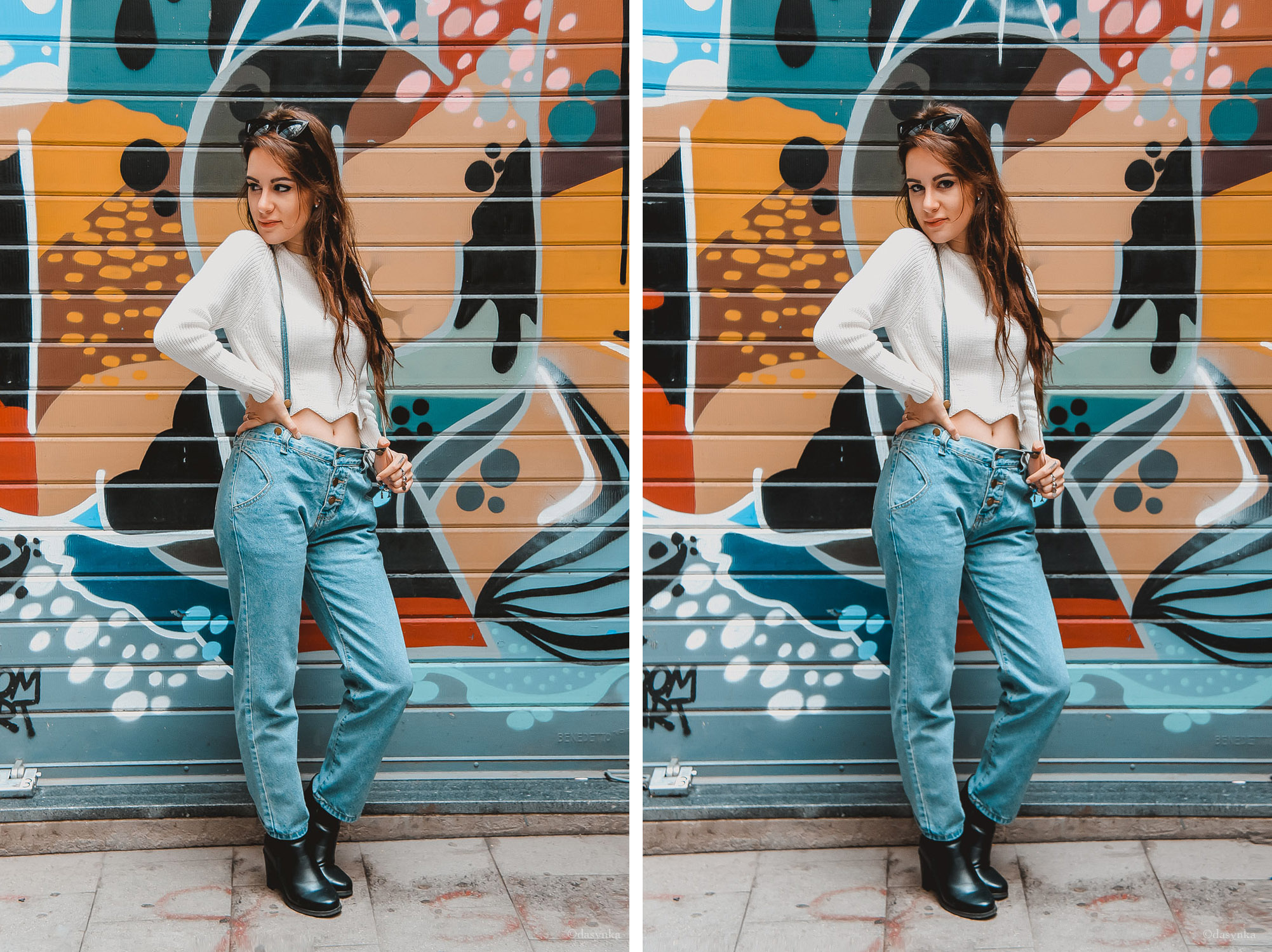 dasynka-fashion-blog-blogger-influencer-inspiration-shooting-model-globettrotter-travel-girl-lookbook-instagram-long-hair-street-style-casual-italy-lifestyle-outfit-poses-overalls-dungarees-white-crop-top-sweater-romwe-shein-primark-zara-hm-culotte-black-art-chole-bag-boots