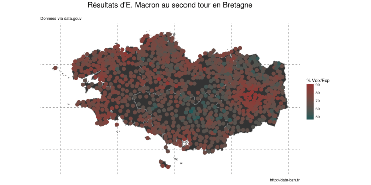 Résultats de macron au second tour