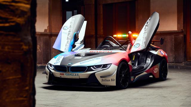 bmw i8 roadster formula e safety car 2020 5k hd desktop