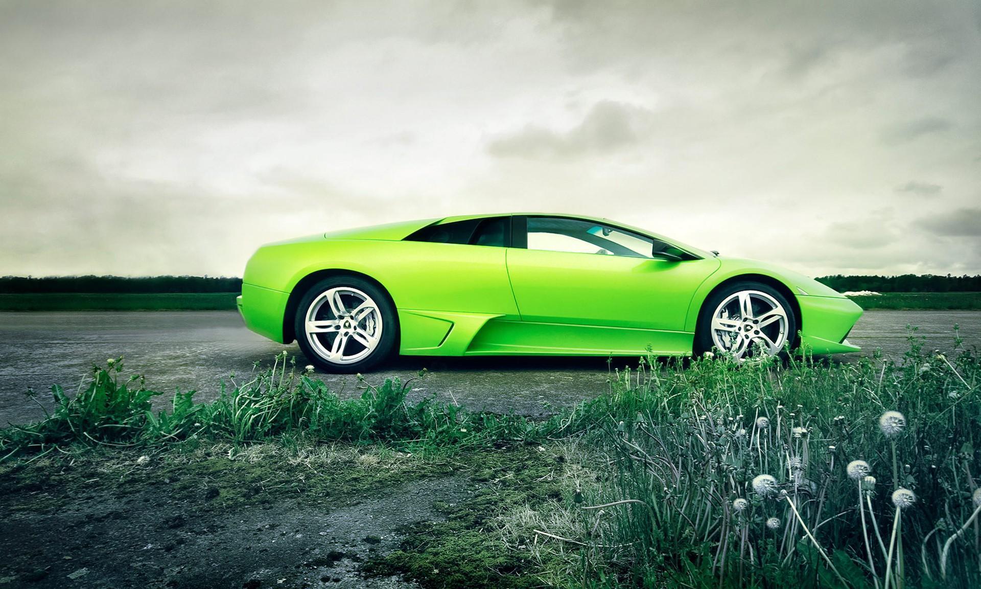 Cool Green Car Hd Desktop Wallpaper Widescreen High Definition Fullscreen