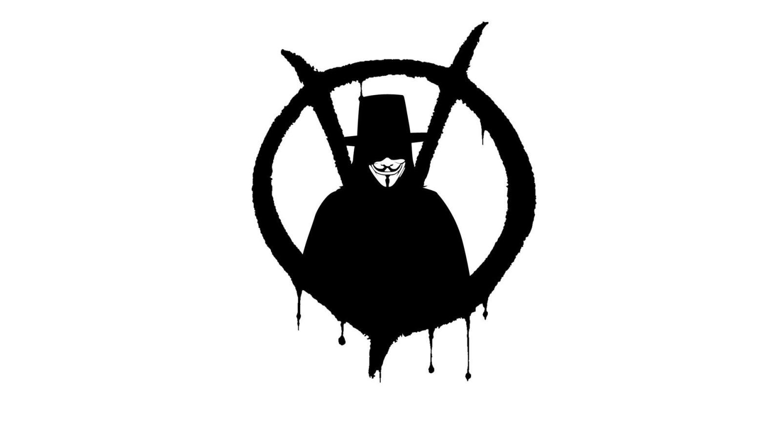 V For Vendetta Logo Hd Desktop Wallpaper Widescreen
