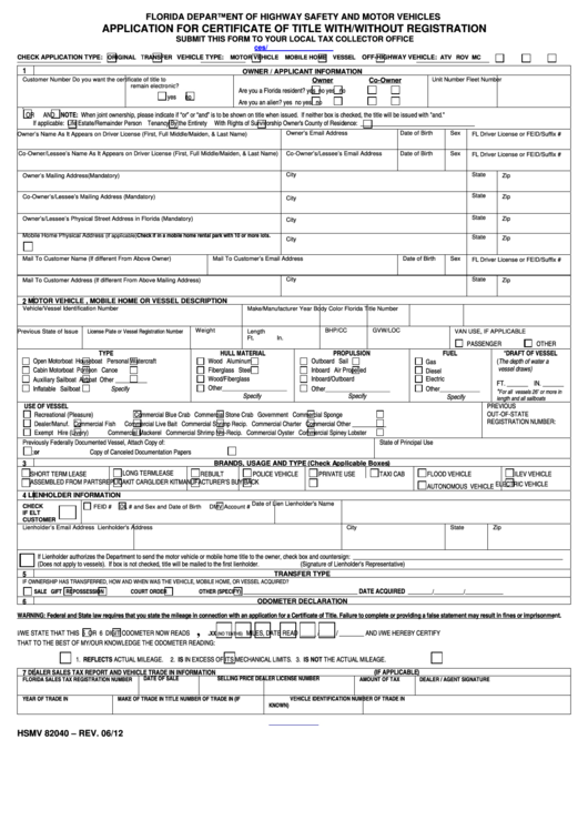 Florida Vehicle Power Of Attorney Form