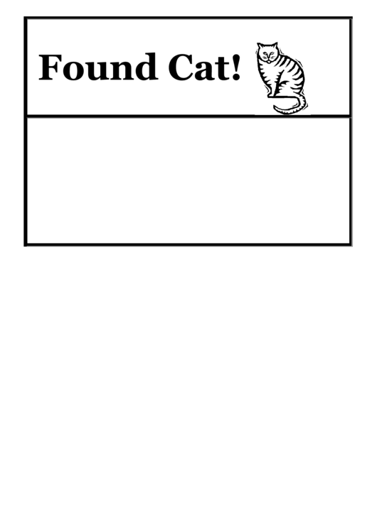 Found Cat Poster Template Printable Pdf Download