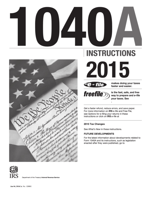 Form 1040 Instruction Booklet