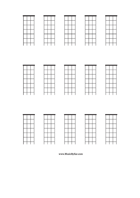 Mandolin Blank Chord Chart Printable Pdf Download