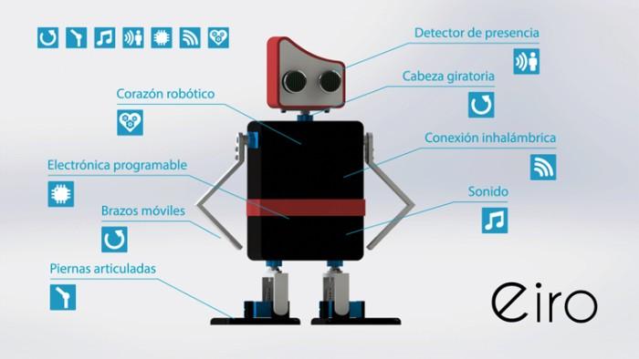 imagen-eiro-03 Eiro, robot educativo de código abierto compatible con Arduino