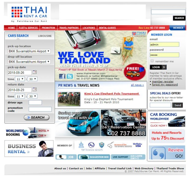 Thai Rent A Car Year 2009- 2012