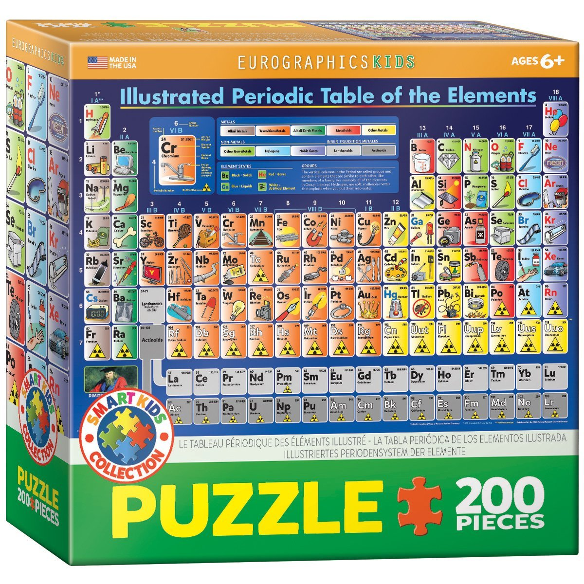 Puzzle Illustrated Periodic Table Of The Elements