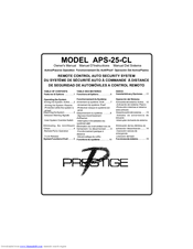 Audiovox APS25CL Manuals