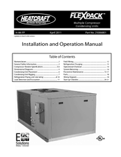 Heatcraft refrigeration products FLEXPACK 25006801 Manuals