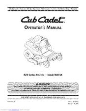 Cub Cadet RZT 54 Manuals