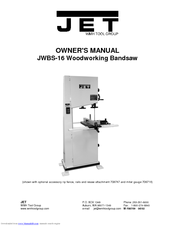 Jet JWBS16 Owner's Manual (30 pages)
