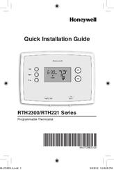 Honeywell RTH2300 series Manuals