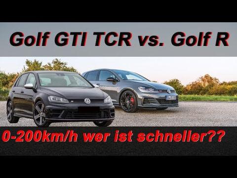 golf gti tcr standard vs akrapovic