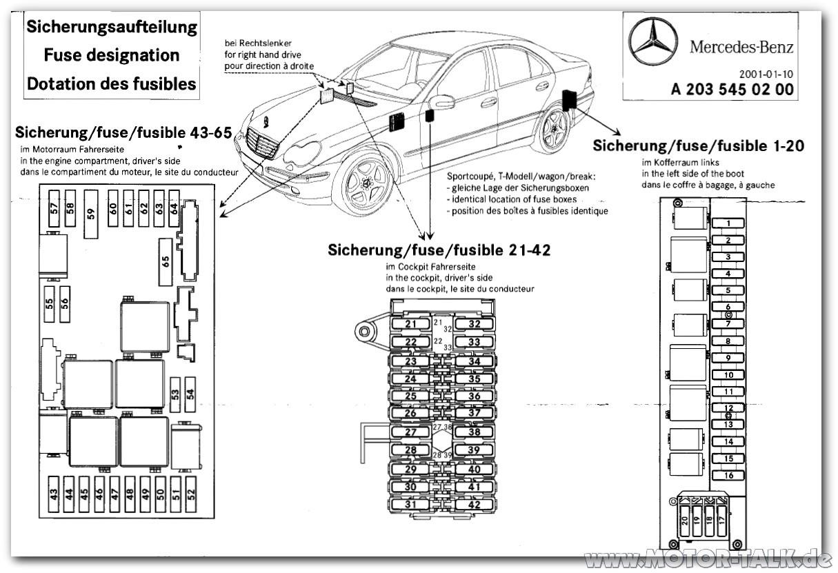 Lage Der Sam S W203 Zentralverriegelung Ohne Funktion