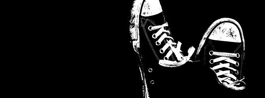 Couverture Facebook Facebook Cover Baskets Converses Noir Et Blanc Image Gif Anime