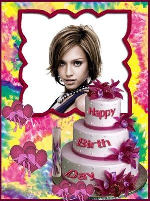Photo Montage Happy Birthday Birthday Cake Pixiz
