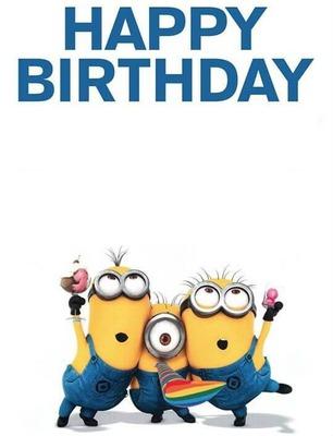 Fotomontage Happy Birthday Minion Pixiz