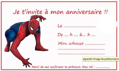 montage photo invitation spiderman pixiz
