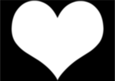 montage photo coeur sur fond noir pixiz