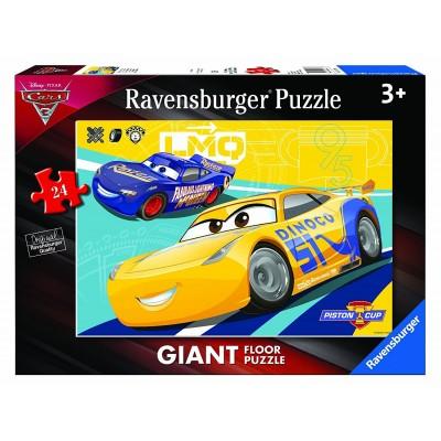 puzzle tapis geant de sol cars 3 ravensburger 05518 24 pieces puzzles cars planet puzzles