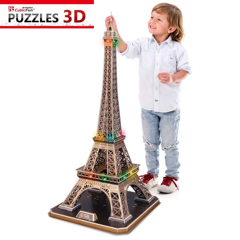 puzzle puzzle 3d mit led eiffelturm paris schwierigkeit 6 8
