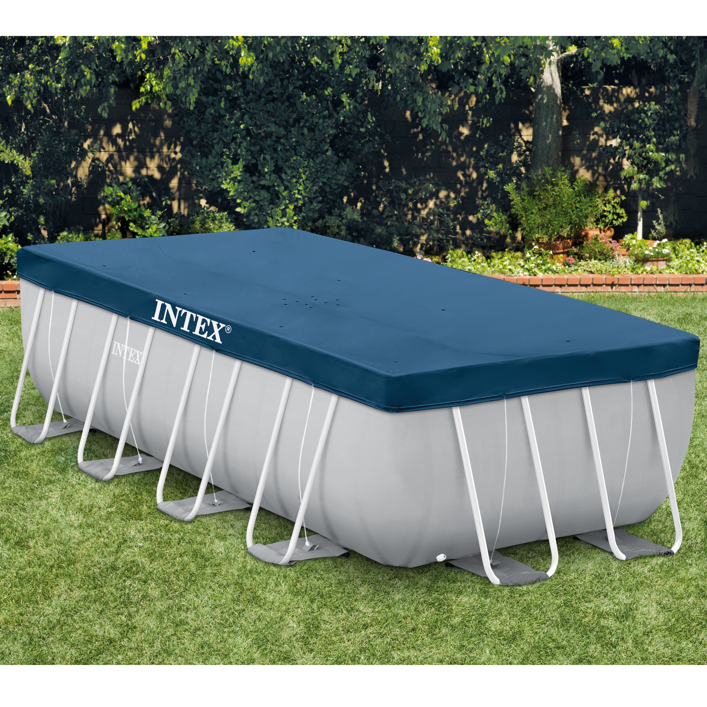 bache de protection pour piscine rectangulaire 4x2m intex