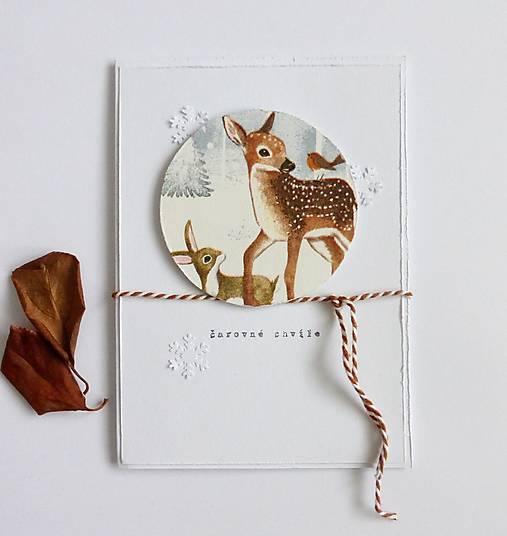 Papiernictvo - Pohľadnica, lesné zvieratká - 12639115_