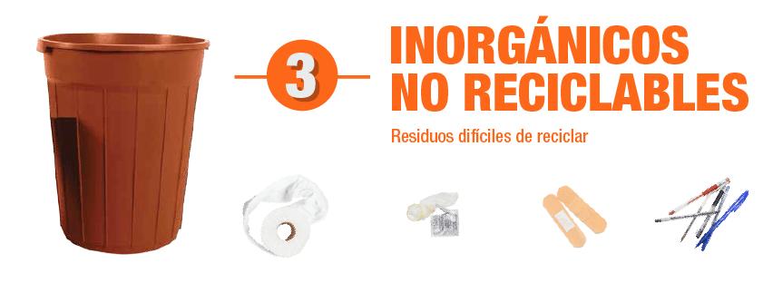 residuos inorgánicos no reciclables