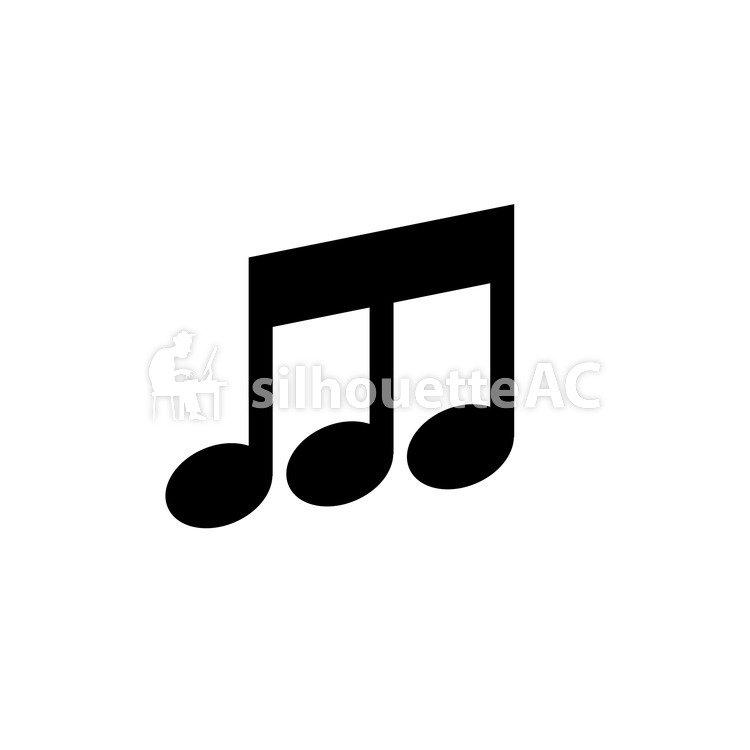免費的剪影矢量:8分音符 音樂 圖標 一個例證 音樂會 - 126485 |silhouetteAC