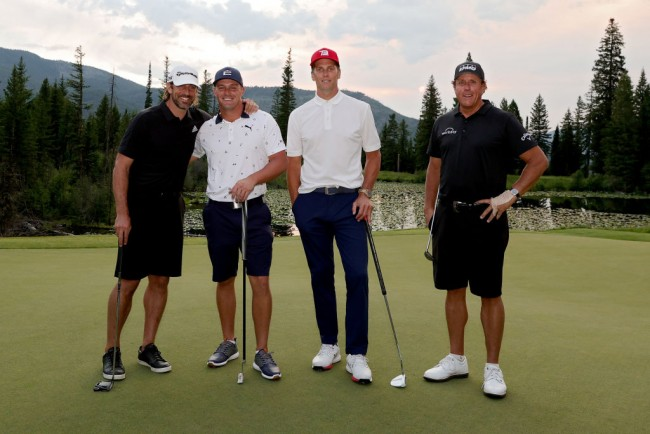 Bryson DeChambeau, Aaron Rodgers Defeat Phil Mickelson, Tom Brady in the Match 4