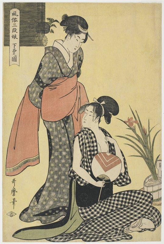 Girls of the Lower Class: Customs of the Three Classes of Women by Kitigawa Utamaro