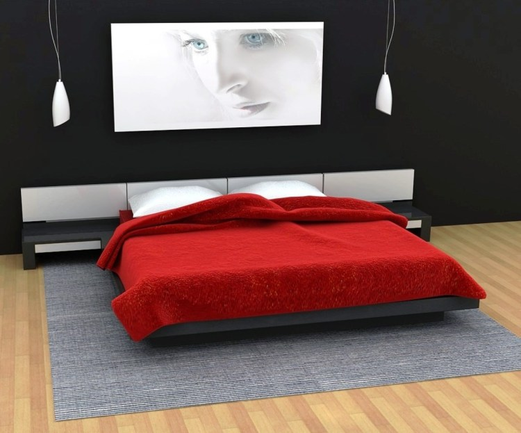 Black White Red Bedroom Decorating Ideas On We Heart It