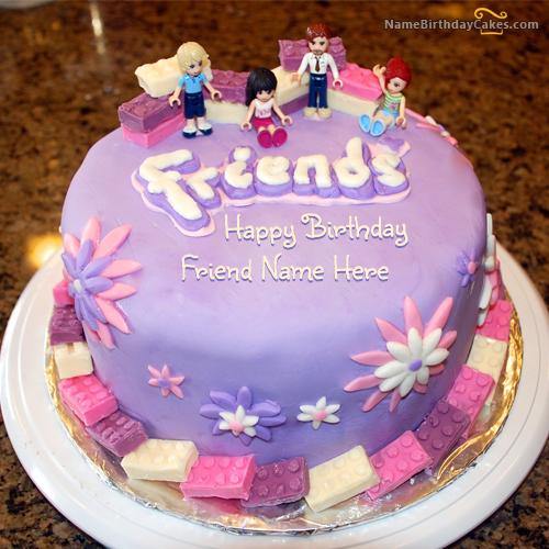 Happy Birthday Cake With Name For Facebook Dpsainiflorist