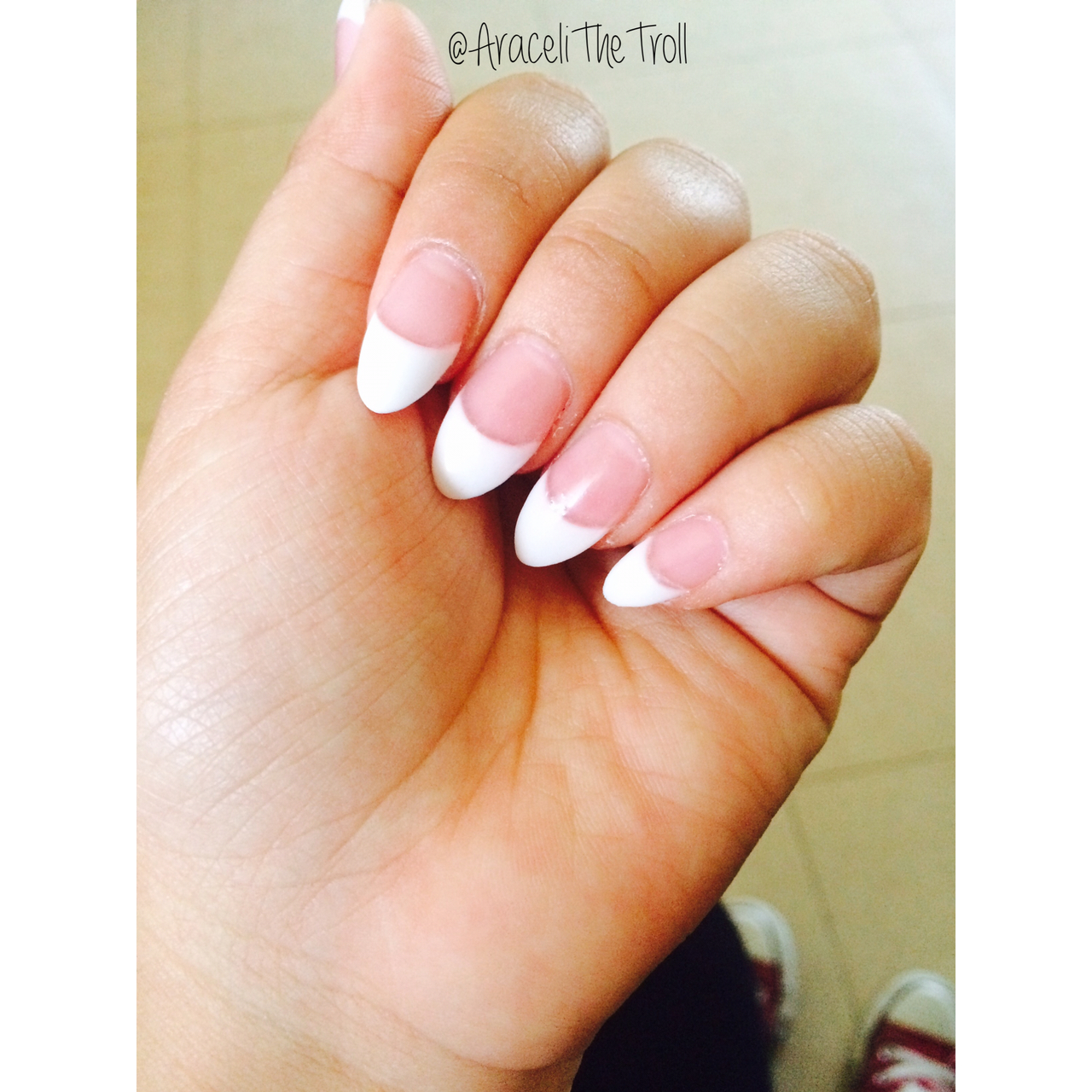 French Manicure Shape Nails Papillon Day Spa