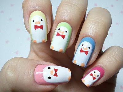 Penguin Nail Art Images Nails Hd Wallpaper And Background Photos