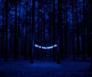 cry, blue, and dark -kuva