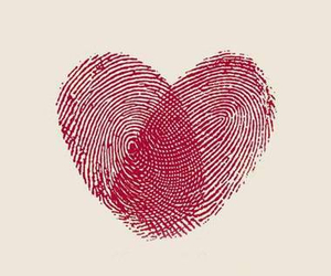 love, heart, and red image