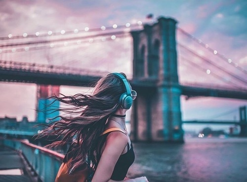 girl, photography, and music image