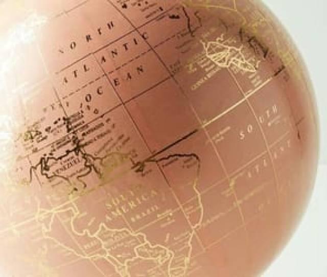 Globe World And Rose Gold Image