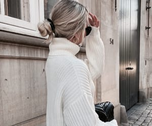 chic, hair, and white image