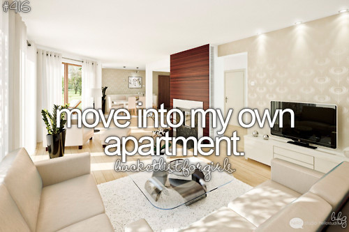 Before I Move Into My Own Apartment Via Tumblr