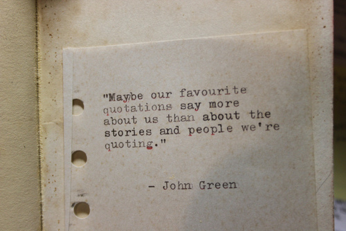Maybe Quotation by John Green