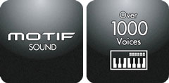 Over 1000 Sounds from the MOTIF Series