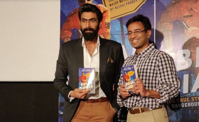 Rana Daggubati launches Amit Lodha's book Bihar Diaries