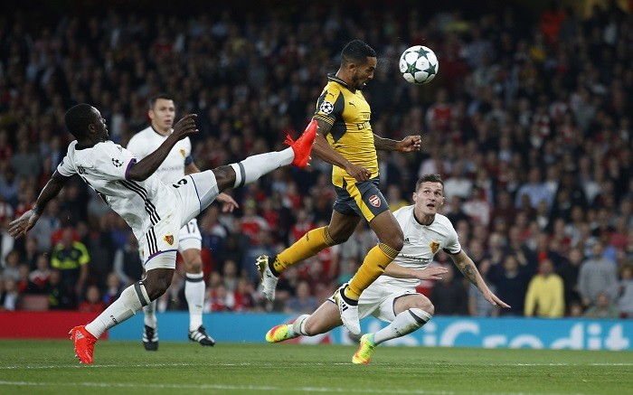 Image result for walcott goal basel
