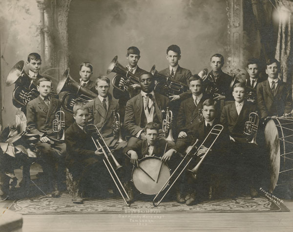 Boy's Brass Band Community Movement Pembroke, circa 1913.