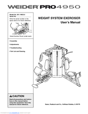 Weider Pro 4950 831 14623 0 Manuals
